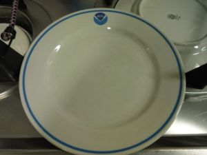 Even the plates have the NOAA logo!!