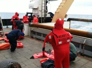 photo of abandon ship drill