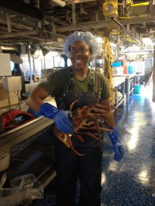 Adria with the Spiny Lobster