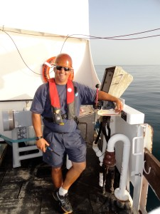 Fisherman Eloy Borges controlling the CTD