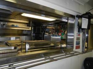 The galley on the Thomas Jefferson