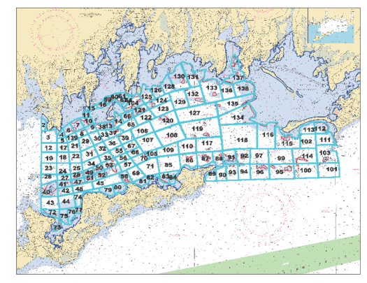 Boat sheet for Long Island Sound survey (provided by T. Walsh)