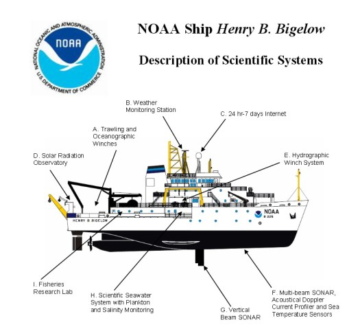 The ship! Photo from: http://www.nefsc.noaa.gov/Bigelow/pdfs/bigelow_sci_systems.pdf