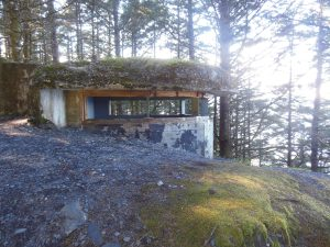 The lookout tucked into the mountainside of Abercrombie State Park