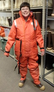 S. Thornton preparing for an Arctic expedition.
