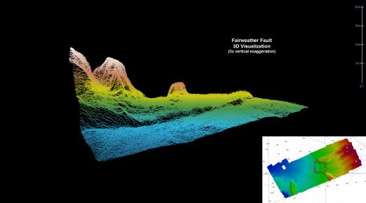 3D image of Queen Charlotte-Fairweather fault
