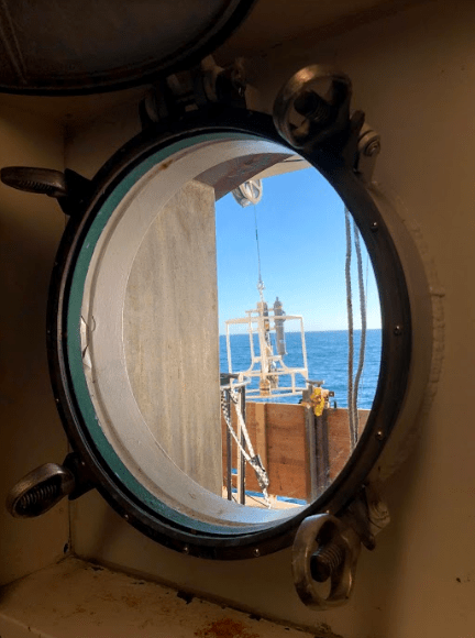 CTD through Port Hole
