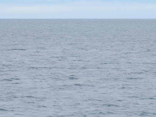 The view of the horizon from the deck of the Oscar Dyson.