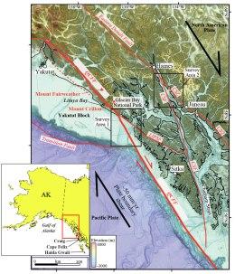 Queen Charlotte fault area