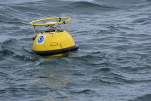 The tide buoy was successfully released and will remain in the Arctic Ocean until late summer or early fall.