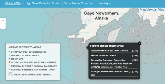 Marine Protected Area map