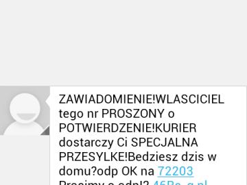 Niechciane sms-y z numerów premium 7XXX