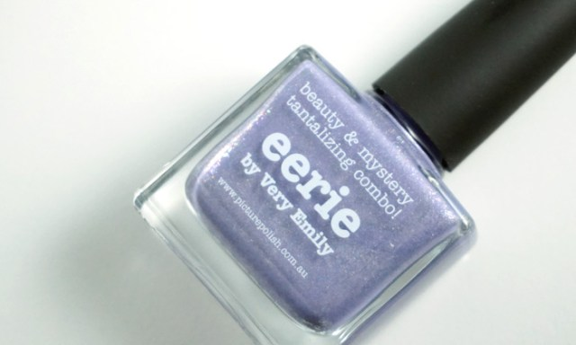 bottle of picture polish eerie, a collaboration shade with very emily