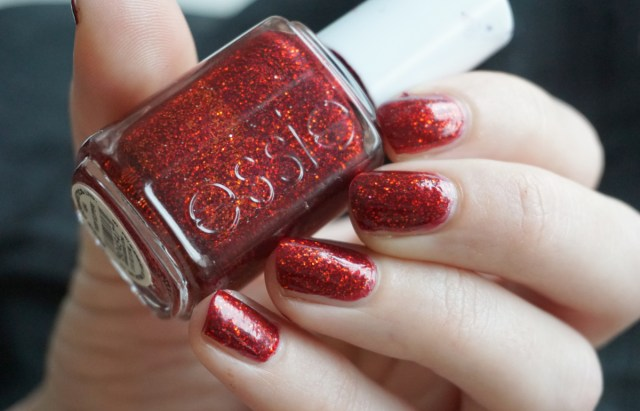 Swatch of Essie Ruby Slippers