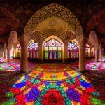 「マスジェデ・ナスィーロル・モルク」 ステンドグラスの色彩が美しいイランのモスク