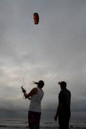 Parking the kite at 2 o'clock