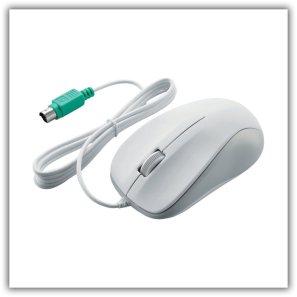 エレコム 光学式マウス/PS2/3ボタン/ホワイト/ROHS指令準拠