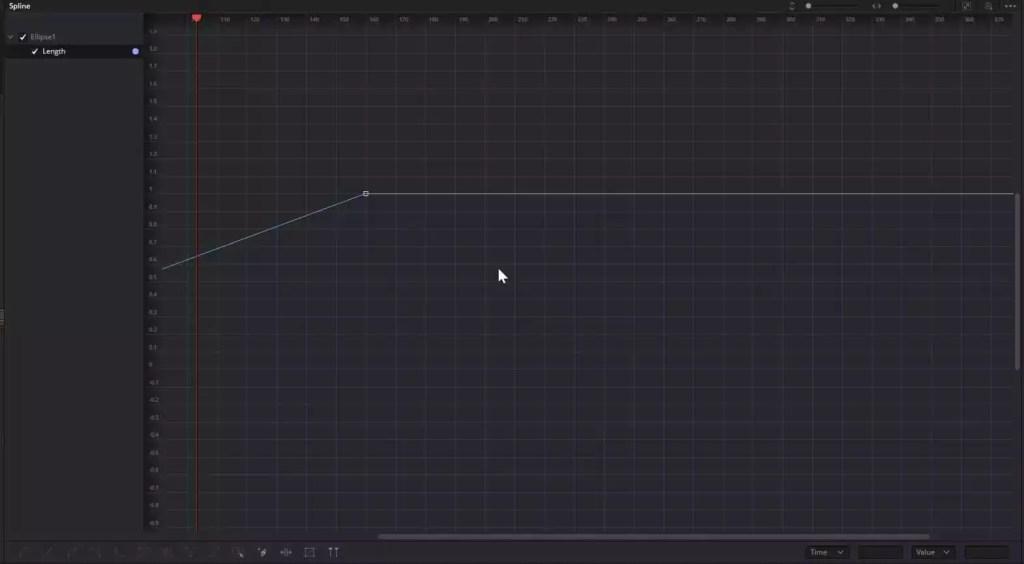 Fusion Spline Editor with Linear Spline keyframes