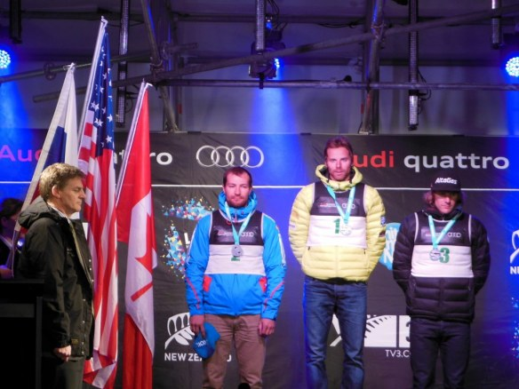 New Zealand Winter Games 2013 Men's Podium with Flags