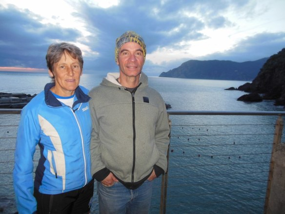 Mike and Sharon Hoffman in Vernazza, Italy
