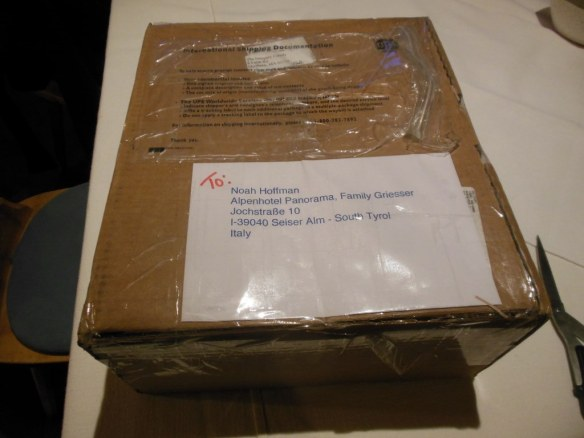 Package from Mark Doughty Family
