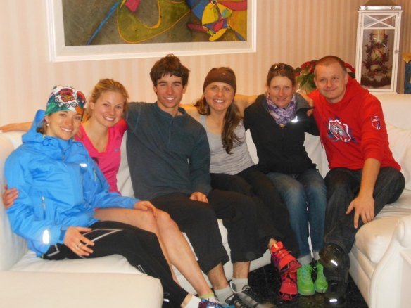 U.S. Ski Team with Karin Camenisch and Markus Ljungdahl in Val di Fiemme