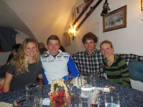 Karel Tammjärv with U.S. Ski Team Tour de Ski Athletes