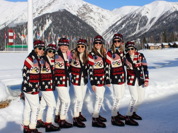 Sochi 2014 Cross Country Women USA Opening Ceremonies Outfits