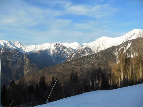 Caucasus Mountains from Sochi Olympic Endurance Village