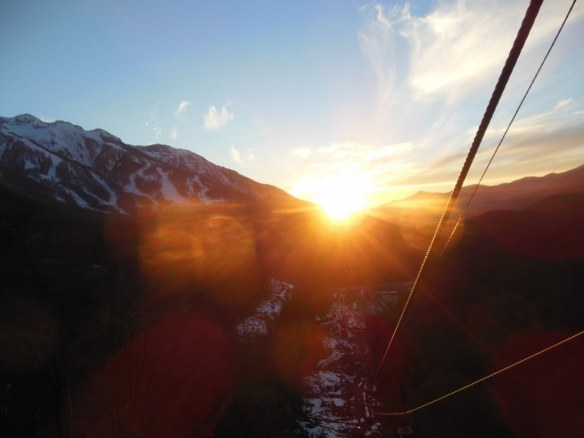 Sunset from Laura Gondola in Sochi