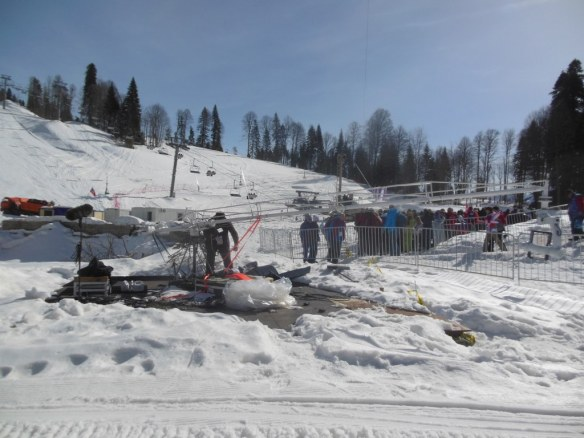 Crews Disassembling Camera Stations after Sochi Olympics
