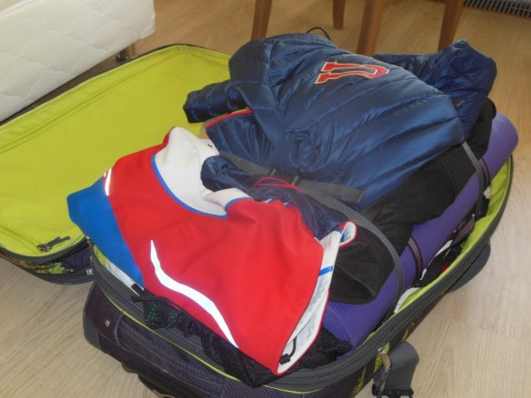 Noah Hoffman Olympic Duffle Packed after Sochi 2014