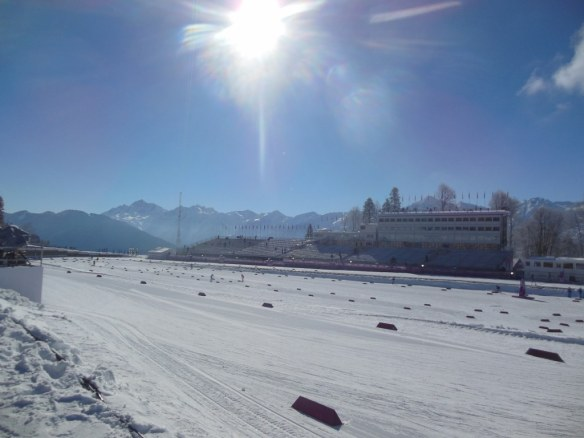 Cross Country Stadium at 2014 Olympic Winter Games in Sochi