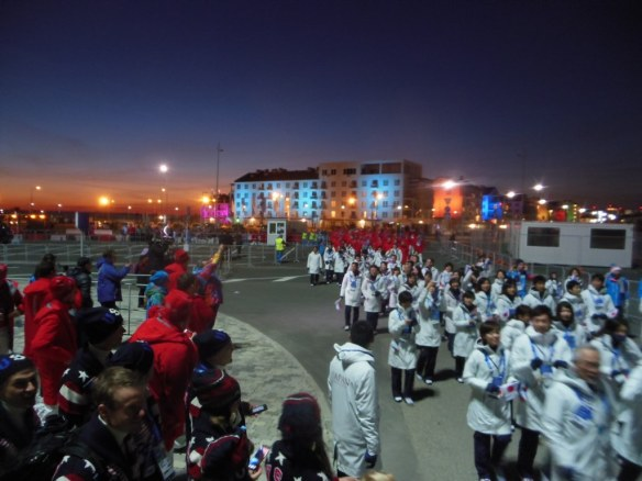 Olympic Athletes from Village to Opening Ceremonies