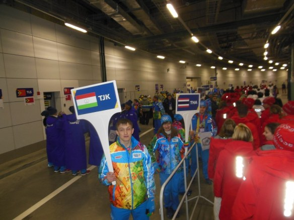 Opening Ceremonies Small Countries Staging Area
