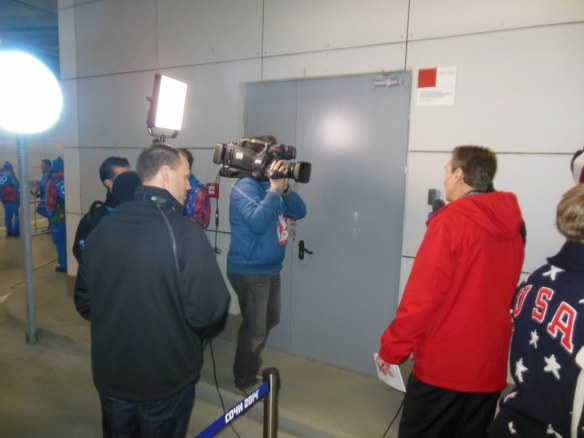 Media at Opening Ceremonies Staging Area