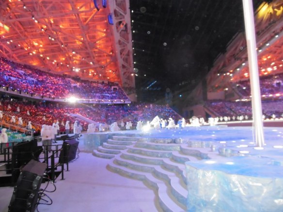 View From Middle of Olympic Opening Ceremony