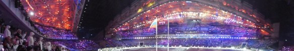 Panoramic View From Olympic Opening Ceremony Seat
