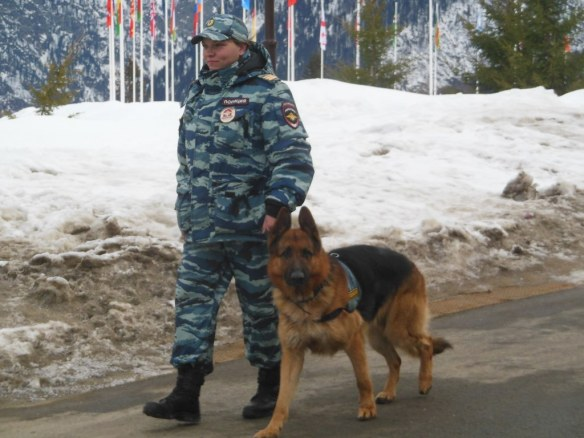 Guard in Olympic Endurance Village Sochi