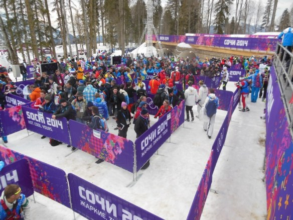 Print Media Mix Zone at Sochi Skiathlon Olympics