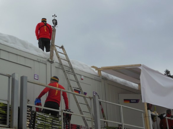 Weather Station on Roof of German Wax Cabin Olympics