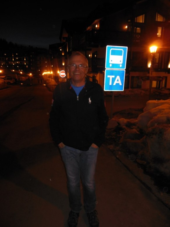 Larry Gaul at Night in Sochi Endurance Olympic Village