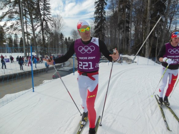 Devon Kershaw Cooling Down from Olympic 15k in Sochi, Russia