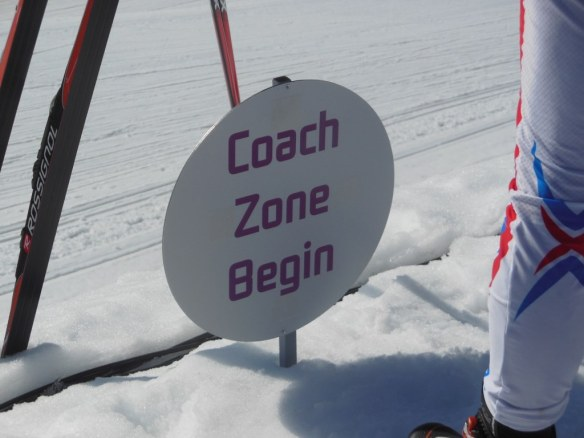 Small Coaching Zone Sign Olympics