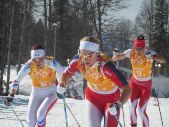 Astrid Jacobsen Looking Average in Women's Olympic Relay