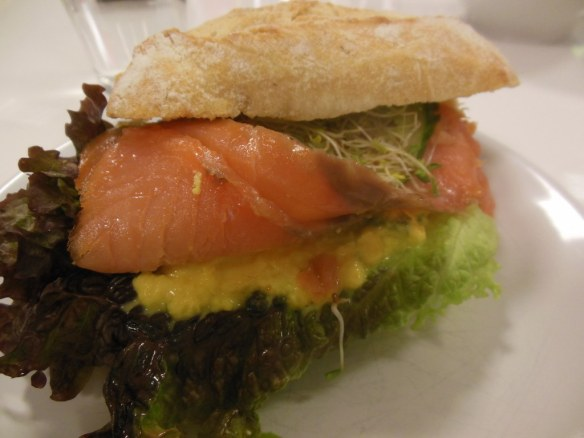 Lox Sandwich in Oslo, Norway Bjorn Daehlie Headquarters