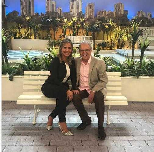 Carlos Alberto e Renata na Praça / Foto – arquivo pessoal.