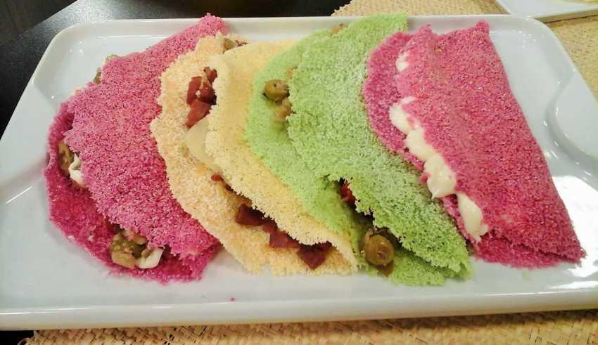 Aprenda a fazer tapiocas coloridas
