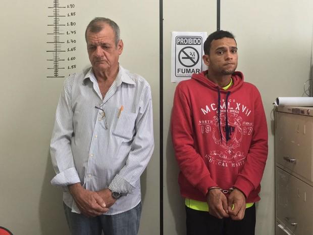 Adones Negri (à esquerda) teria envenenado o produto; Deuel Rezende (à direita) teria furtado o achocolatado (Foto: Thainá Paz)