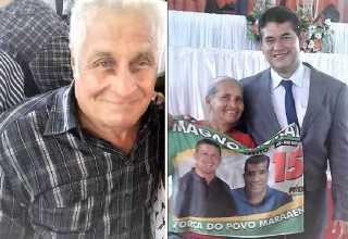 Pai de Magno Moraes toma posse no lugar do filho preso/ Fotos: Clóvis Moraes e Edir Castelo / Reprodução/Facebook